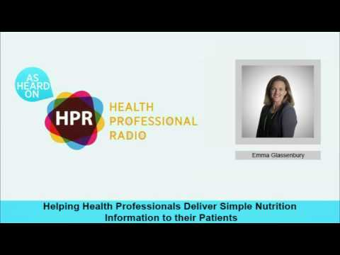 Helping Health Professionals Deliver Simple Nutrition Information to their Patients