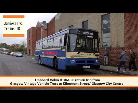 Onboard Volvo B10M-56 return trip from GVVT to Kilermont Street Glasgow City Centre