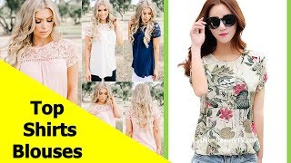 Top 50 Beautiful Shirt and Blouse Designs For Ladies S8