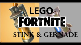 AIM Brick Studios| lego fortnite stink bomb & grenade, Tutorial