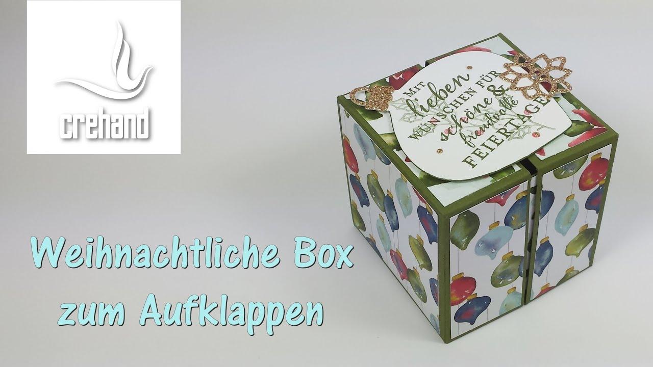 klappbare box f r weihnachten mit stampin 39 up youtube. Black Bedroom Furniture Sets. Home Design Ideas