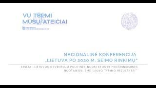 """""""Lietuvos gyventojų politinės nuostatos ir priešrinkiminės nuotaikos: SMD lauko tyrimo rezultatai"""""""