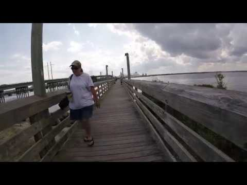 Catching Fish At A Free Pier In Beaufort North Carolina