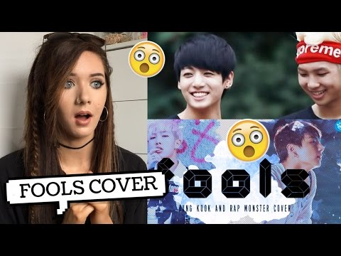 FOOLS COVER BY JUNGKOOK AND RAP MONSTER REACTION // lovedtorch