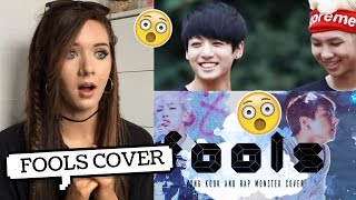 FOOLS COVER BY JUNGKOOK AND RAP MONSTER REACTION Lovedtorch