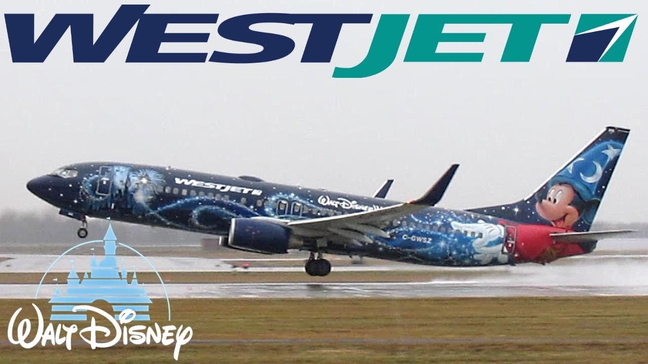 Westjet Quot Walt Disney World Quot 737 800 B738 Taxiing
