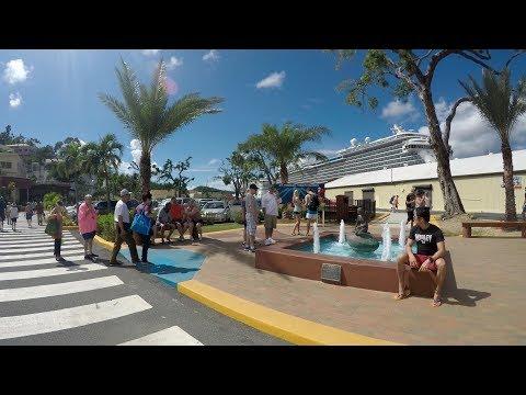 St Thomas Charlotte Amalie Cruise Port, Havensight & Scenic Drive (4K)