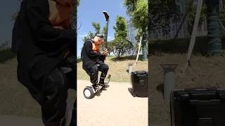The electric self balancing scooter with seat for adults?The robot suitcase that can follow you