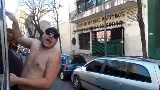 La previa y caravanas llegando a la bombonera en boca jr vs san lorenzo