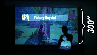 300 Inch Fortnite Setup & Projector Giveaway!