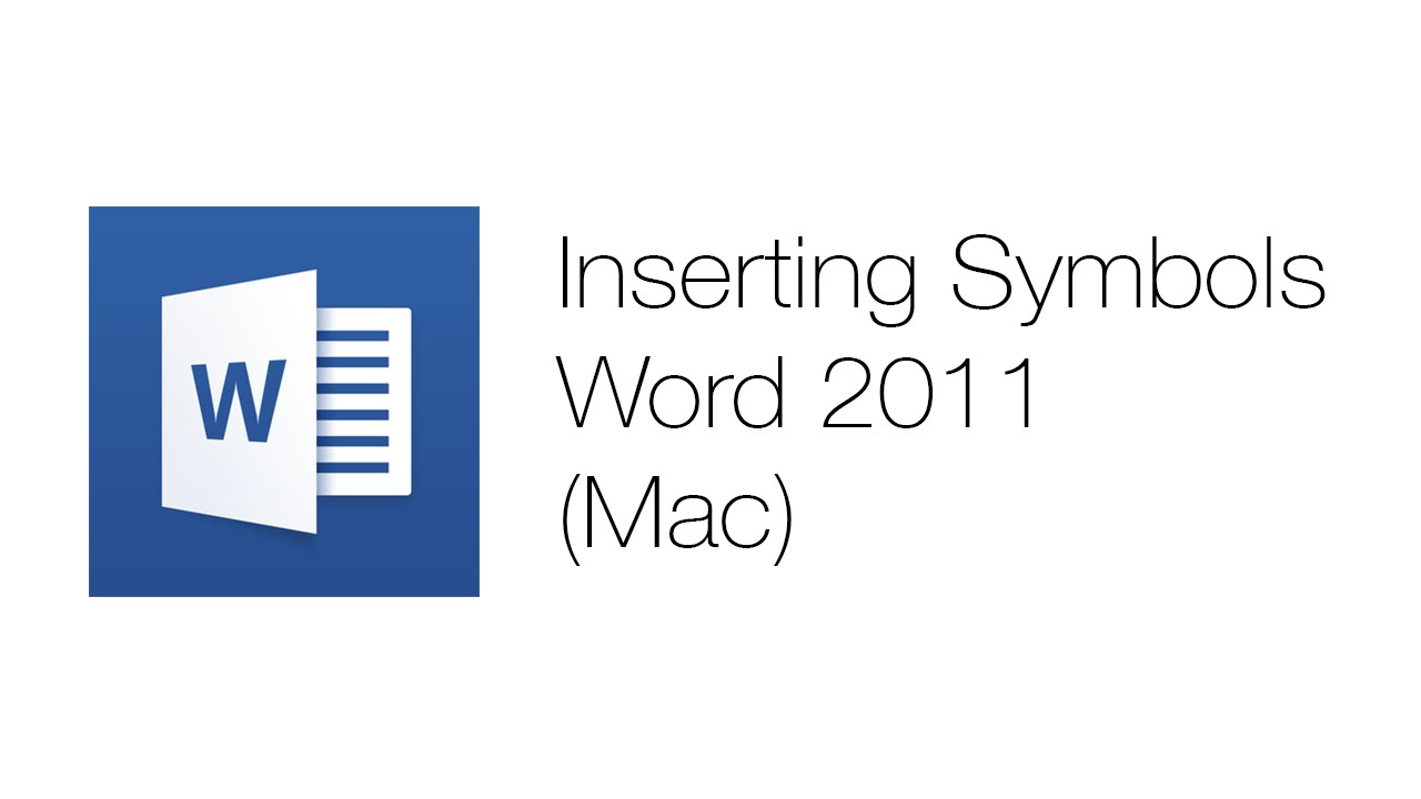 Office Tutorials Using Symbols Microsoft Word 2011 Youtube