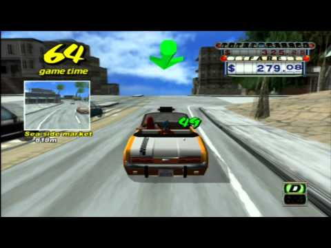 Classic Game Room - CRAZY TAXI For PS3 Review