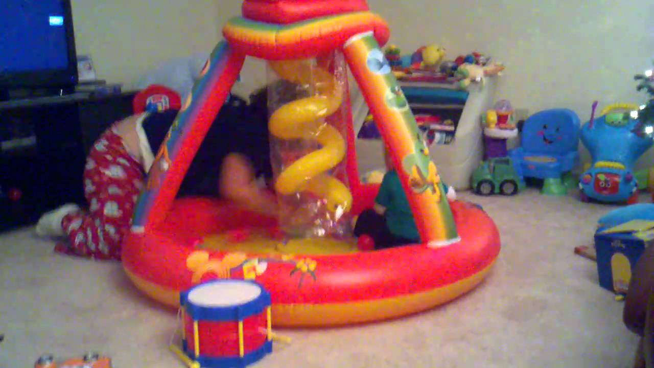 Zachary Playing In His Mickey Mouse Ball Pit Youtube
