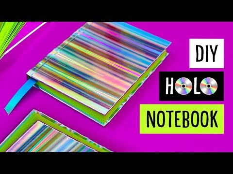 DIY HOLO NOTEBOOK! Holographic Casebound Hardcover Book | Sea Lemon