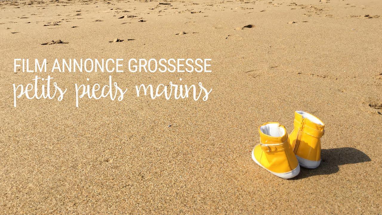 Extrem Annonce grossesse en vidéo : petits pieds marins - YouTube TL49