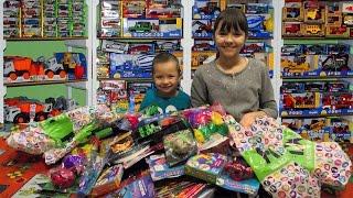 ОЧЕНЬ Много игрушек Машинки Роботы Трансформеры Динозавры Сюрпризы Сладости из FiX Price