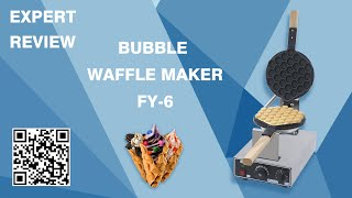 Commercial Bubble Waffle Machine Demo