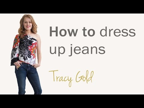 How to dress up jeans for women over 40 - fashion tips for women over 40