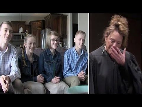 4 Abused Siblings Were About To Be Split Up - Judge's Tears Flow When Couple Adopts All Of Them