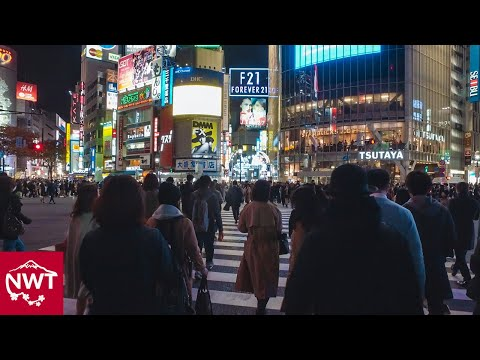 Walking around Shibuya, Tokyo by night - Long Take【東京・渋谷/夜景】 4K