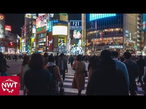 Walking around Shibuya, Tokyo by night - Long Take【東京・渋谷/夜景】 4K