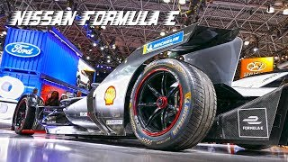 Nissan Formula E, electric powered racing car at New York International Auto Show 2019