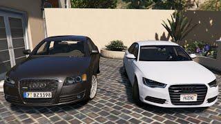 GTA V | AUDI A6 C6 3.0 VS. AUDI A6 C7 3.0 | GTA 5 MOD