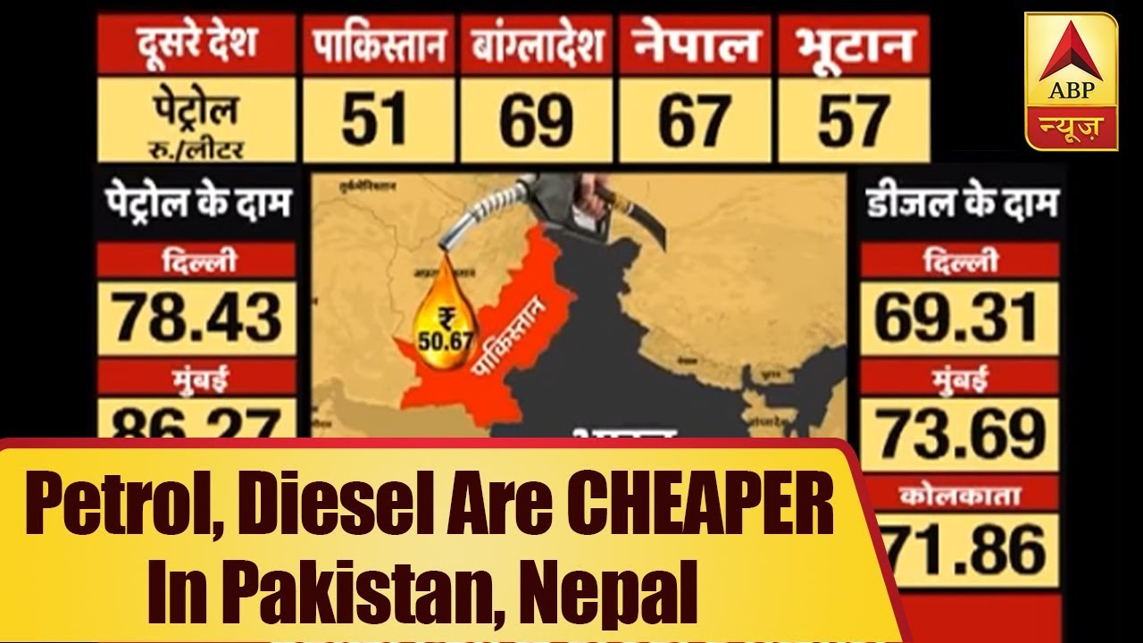 Nepal Karte Download.Petrol Diesel Are Cheaper In Pakistan Nepal Than India Abp News