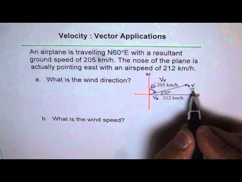 Find Wind Velocity Vector Application Q11 p370 MCV Nelson