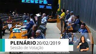 Plenário - Plenário - Sessão Deliberativa - 20/02/2019 14:00
