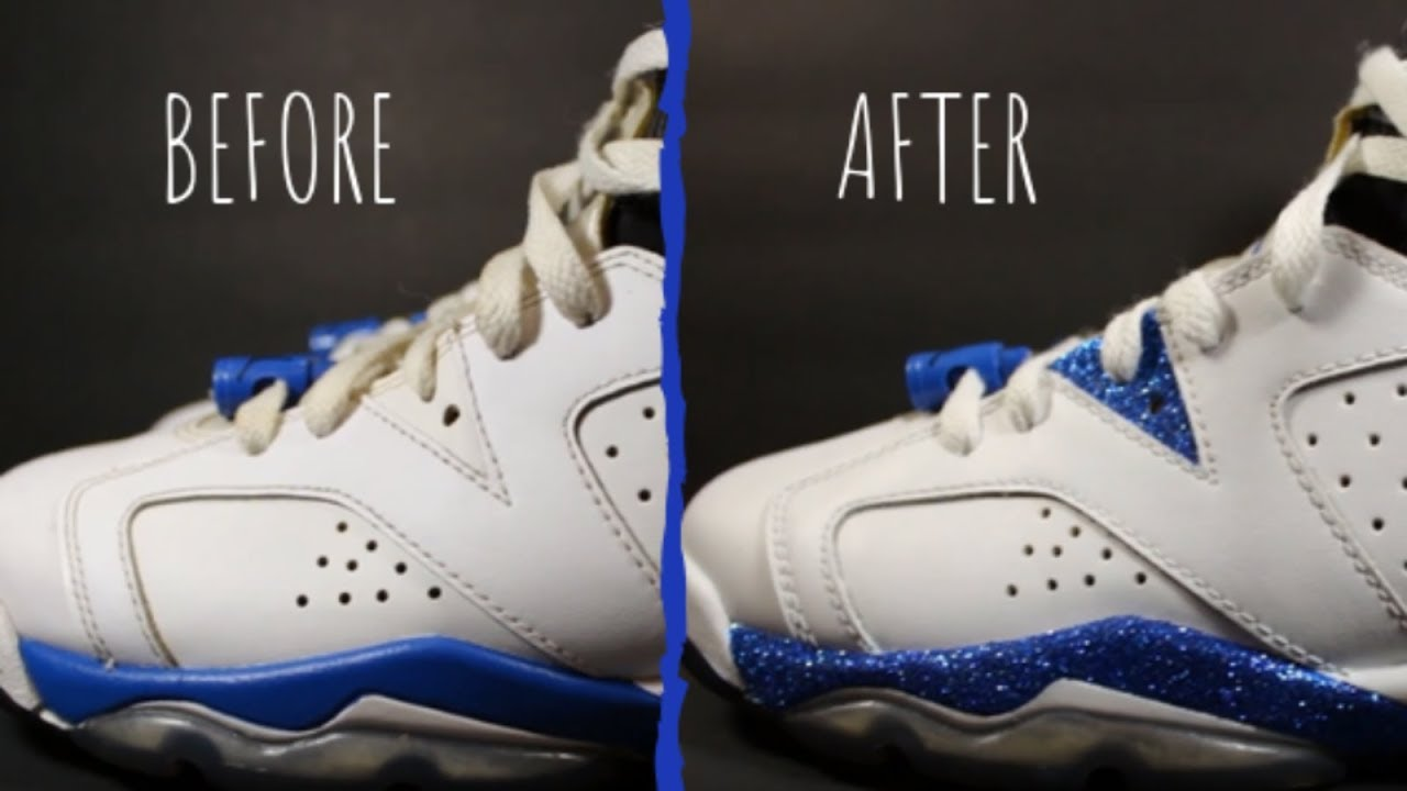 2d8c6784dd Glitter Jordan 6 Custom Jordans Custom Glitter Jordans Custom Shoes ...