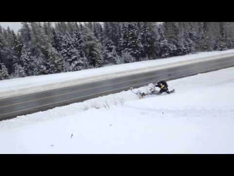 snowmobiling in Bathurst New Brunswick Canada