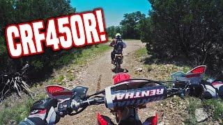 Offroading my Honda CRF450R Dirt Bike [FIRST TIME]
