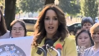 Jennifer Beals - Leads the 'Stroller Brigade' Against Toxic Chemicals (Oct. 28, 2013)