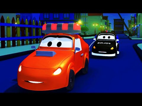 Мультфильм для детей - Авто Патруль: пожарная машина и полицейская машина в Автомобильный Город - Популярные видеоролики!