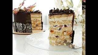 Песочный торт с сухофруктами и орехами/Sandwich cake with dried fruits and nuts