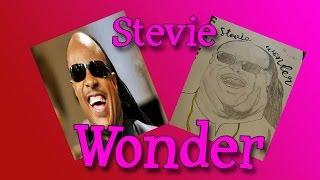 Stevie Wonder Speed Drawing (Speed Art)