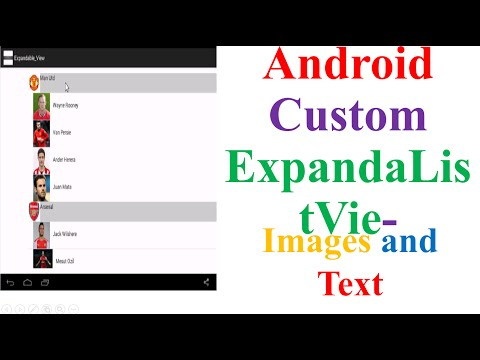 Android Custom ExpandableListViews - With Images and Text