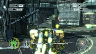 Front Mission Evolved gameplay video 1080p part1 In the wanzer