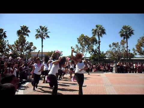 BOOTYWORK  cabrillo dance team performing at the homecoming rally