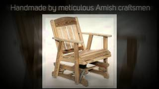 Amish Outdoor Furniture Mission Glider Chair