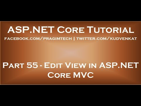 Edit View In Asp Net Core Mvc