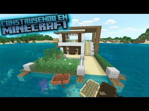 Como hacer una casa moderna en el agua para survival en minecraft thumbnail