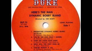 """BOBBY """"BLUE"""" BLAND - 36 22 36 [Duke DLP75] 1962"""