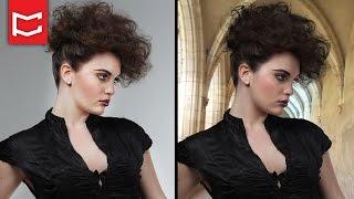 Photoshop Saç Dekupe - Zor Seçimler Kolay Yol - Arka Plan Değiştirme