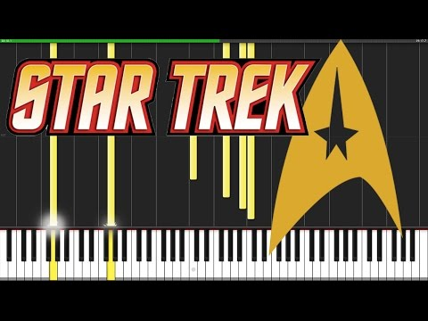 Star Trek Medley [Piano Tutorial] (Synthesia) // David Kaylor