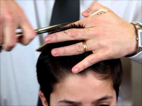 Cutting Hair With Barber Shears Layering Hair With Barber Shears