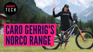 Caro Gehrig's 2022 Norco Range Enduro Bike | GMBN Tech Pro Bike Check