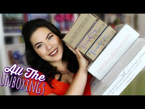 ALL THE UNBOXINGS | Fandom and Bookish Subscriptions Boxes
