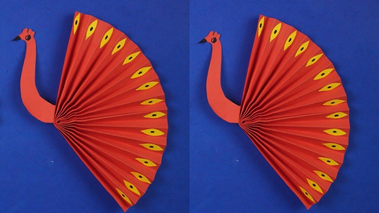 Membuat Origami Burung Merak